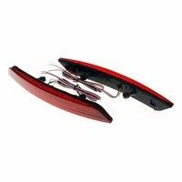 2pcs LED Red Rear Bumper Reflector Light LED Fog Brake Light Running Reversing Tail Lamp Fit