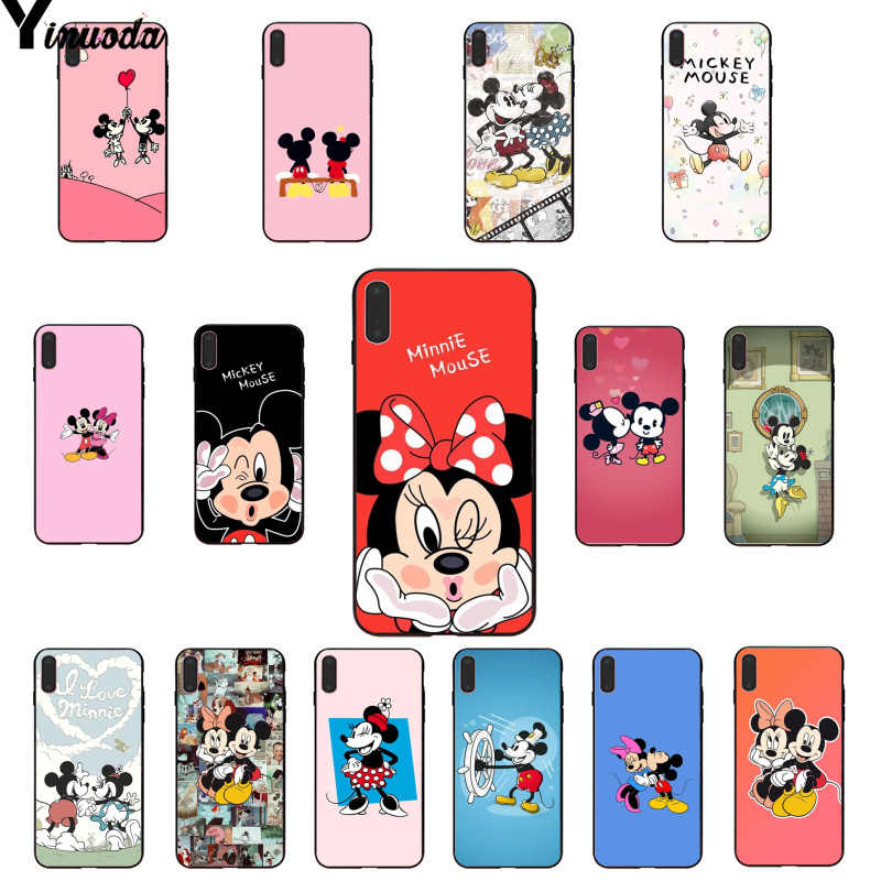 Yinuoda จูบคนรัก Mickey Minnie Mouse Novelty Fundas สำหรับ iPhone 5 5Sx 6 7 7plus 8 8Plus X XS MAX XR