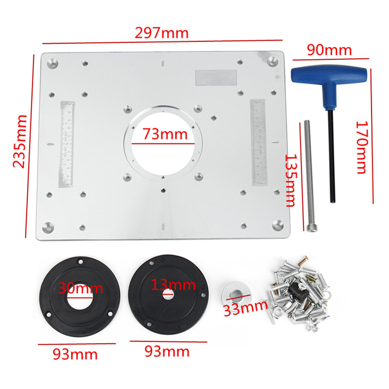 New 300235mm aluminum router table insert plate diy woodworking new 300235mm aluminum router table insert plate diy woodworking benches for popular router trimmers models engrving machine in wood routers from tools on greentooth Choice Image