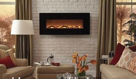 G 01 Wall Hanging Fake Electric Fireplace Decor Flame