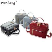 PinShang Fashionable Women's PU Leather Satchel Haversack Zipper Clutch Shoulder Bag Handbag Daily Thing Holder HOT NEW ZK30