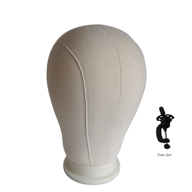 Fixing Wig Mannequin Model Head Canvas Block Head Canvas Head For Wigs Wig Stand Training Mannequin Head Free Get Holder ...