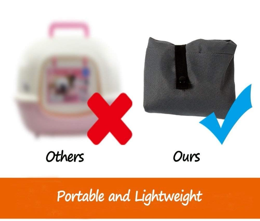 Portable Outdoor Travelling Litter Toilet for Cats Pet Supplies Pet Toilet