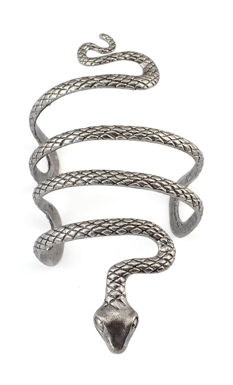 Thailand Tibet Silver Snake Open Cuff Bracelets Bangles