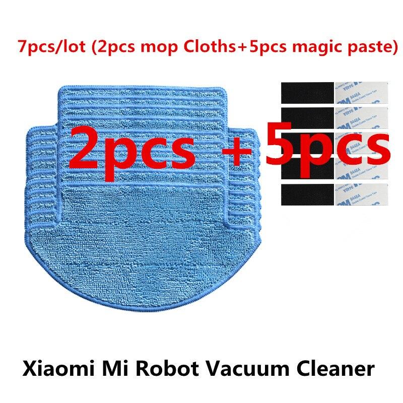 Vacuum Cleaner Parts 2019 Official For Xiaomi Mi Robot Vacuum Cleaner Parts Kit 7pcs/lot 2pcs Mop Cloths+5pcs Magic Paste