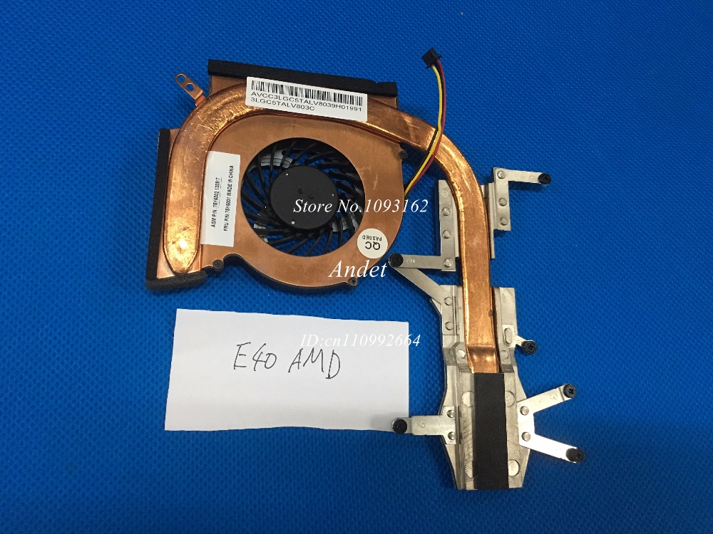 New Original for Lenovo Thinkpad Edge 14 E40 CPU Fan Heatsink Discrete Cooler Cooling Discrete 75Y6001 75Y6002 for asus u46e heatsink cooling fan cooler
