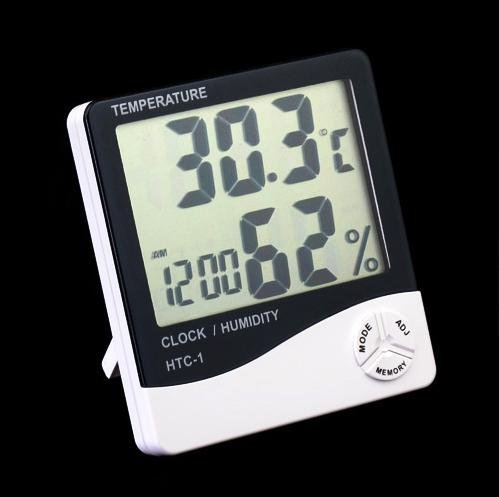 Digital LCD Thermometer Hygrometer,humidity meter with alarm clock ,free shipping