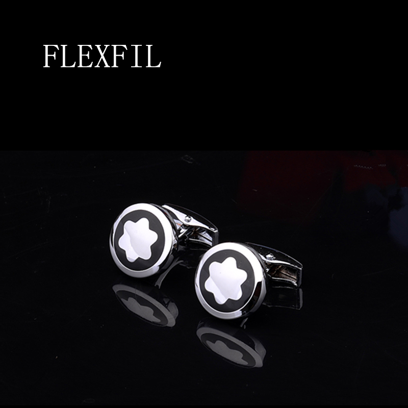 FLEXFIL Luxury shirt cufflinks for men's Brand cuff buttons cuff links gemelos High Quality round wedding abotoaduras Jewelry(China)