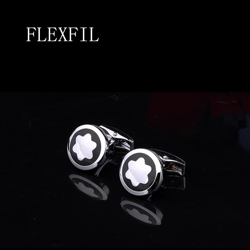 FLEXFIL Luxury Shirt Cufflinks For Men's Brand Cuff Buttons Cuff Links Gemelos High Quality Round Wedding Abotoaduras Jewelry