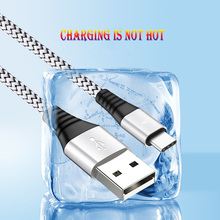 Nylon Braided USB Type C Cable Fast charge 2.4A  Data Sync type-c mobile phone data cable For Samsung S9 Xiaomi Charging Cable remax type c fast charging data sync cable
