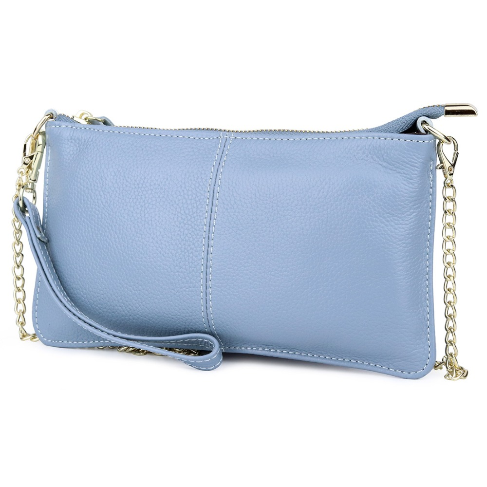New Arrivals Premium Genuine Leather Large Capacity Girl Evening Party Handbags Women Messenger Bag Ladies Chain Day Clutches in Top Handle Bags from Luggage Bags