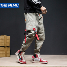 THE NLMU Hip Streetwear Joggers Ankle-Length 2019 Cotton Trousers Elastic Waist Pant