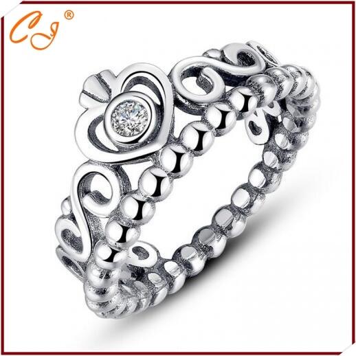 Plata antigua corona anillo, hace of 925 antigüedades de plata Color de plata es más asombrosos al usar dedo