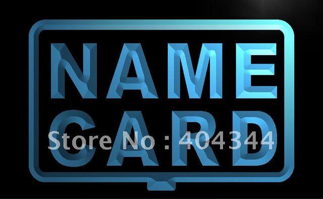 Lb240 Name Card Shop Custom Open Led Neon Light Sign Home Decor Shop