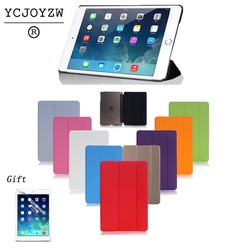 Case For New ipad 9.7 2017 2018 - 6th For Air 1 Sleep wake-up magnet, Smart Case Ultra Slim Original 1: 1 Tablet Leather-YCJOYZW
