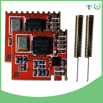 2pcs 433MHz RF module 4463 chip original Long-Distance communication Receiver and Transmitter SPI IOT and 2pcs 433 MHz antenna on chip communication architectures