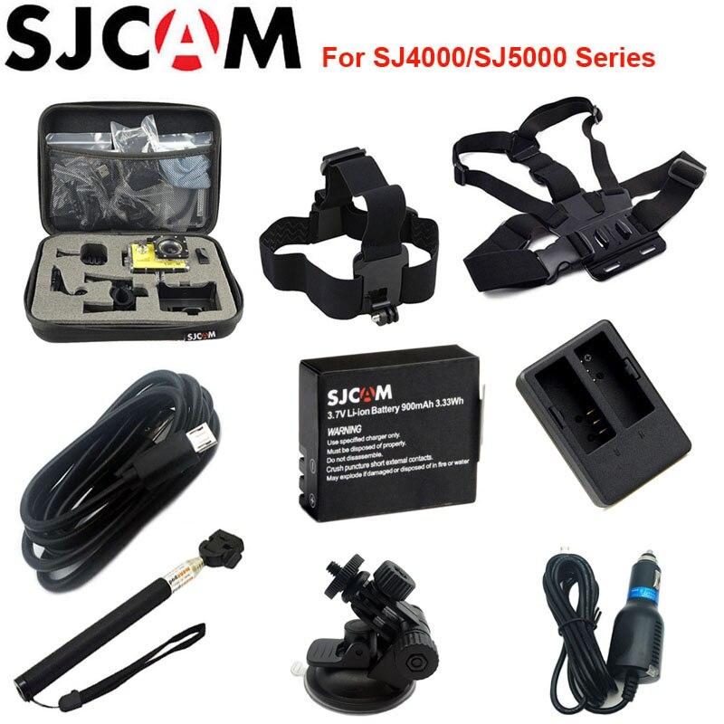 SJCAM Collecte Sac Rechargeable Li-ion Batterie De Voiture Chargeur Manfrotto Pour SJCAM SJ4000 SJ5000 SJ5000X Elite M10 WiFi Camera Action