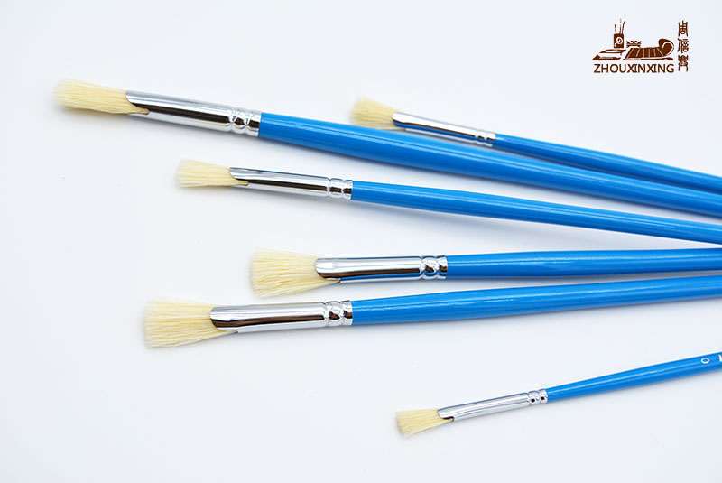 Paint Brushes For Artists Blue Rod Fan-shaped Watercolor Professional Painting