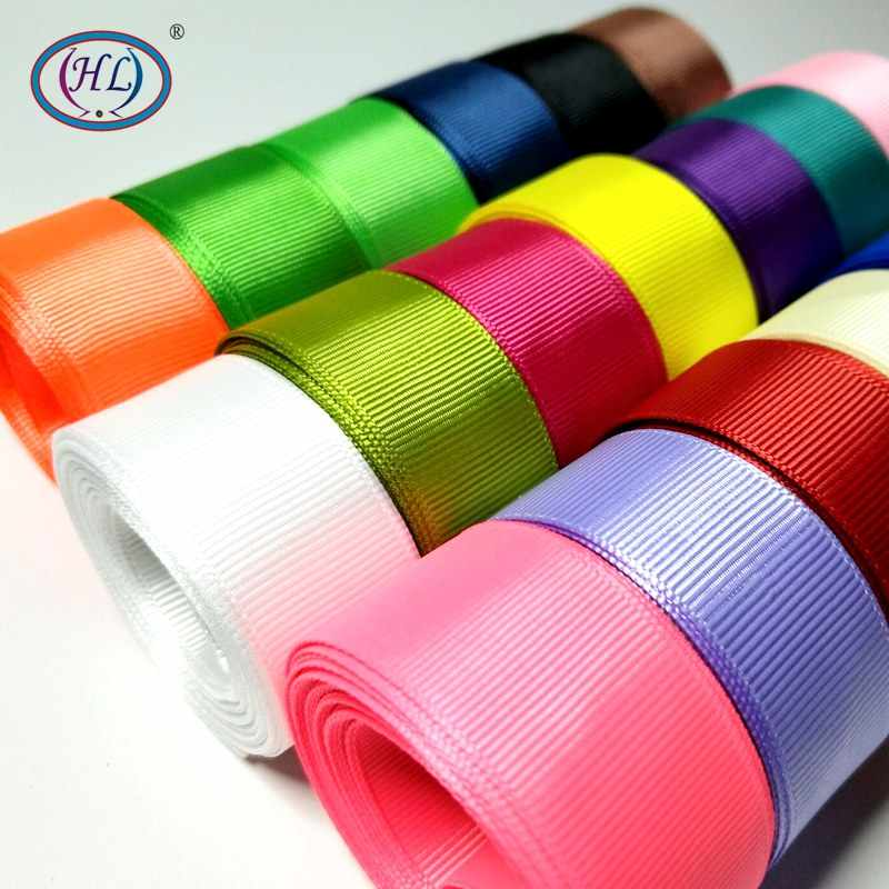 HL 5 Meters 6mm/10mm/15mm/20mm/25mm/40mm Grosgrain Ribbons Handmade DIY Headwear Accessories Wedding Decorative Wrap Gift
