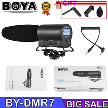 BOYA BY-DMR7 Condenser Microphone MIC ON Camera 3.5mm LCD Audio Cable Recording Studio Voice Professional