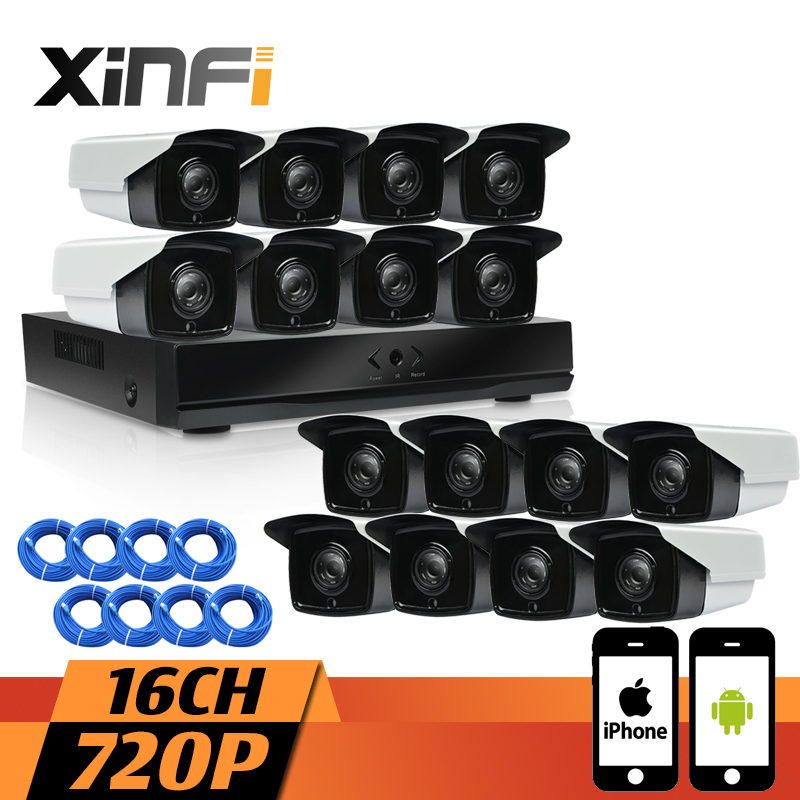 XINFI 16CH CCTV system 1080P NVR 720P IP cameras HD Home Security Camera System CCTV kit