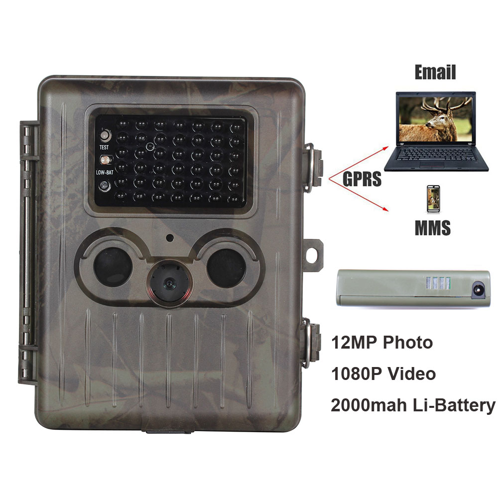 SunTek HT-002LIM Hunting Trail Camera 12MP HD IR Wildlife GPRS/MMS/SMTP with 2000mah Li-Battery ht 002a wildlife hunting camera
