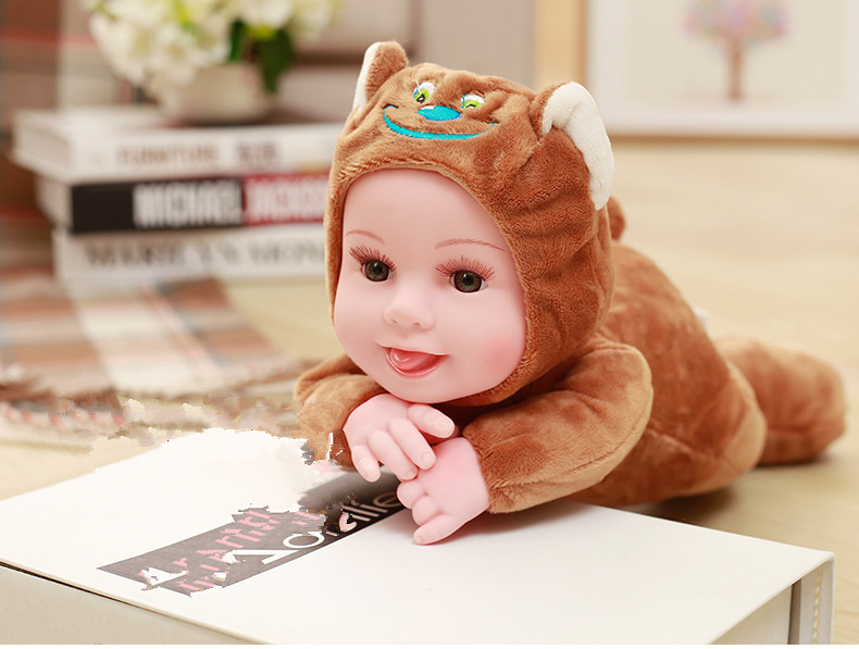 Eyes open Baby Doll Reborn Doll font b Toy b font For Kids Sleep Cute Vinyl