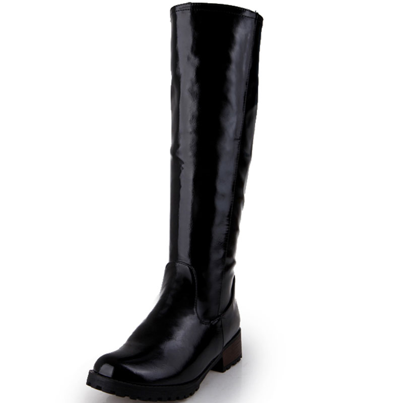 Online Get Cheap Boots Black Leather Knee High -Aliexpress.com ...