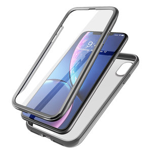 Image 5 - For iPhone XR 6.1 inch SUPCASE Case UB Electro Full Body Clear Plated Glitter Slim Hybrid Cover with Built in Screen Protector