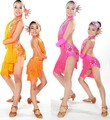 Niño de Baile Latino Vestidos Venta 6 Colores Cha Cha/Rumba/Samba/Salón/Tango Danza Ropa los niños Bailan Traje Girls Dancewear