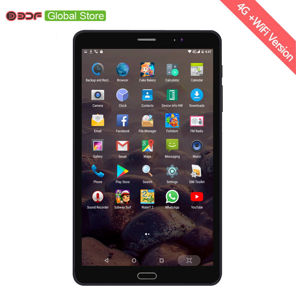2018 New 8 Inch Android 6.0 Tablet Pc 4GB+32GB 4G 3G LTE Sim Card Mobile Phone Call Tablets 5Mp+12Mp Real Camera 1920*1200 IPS