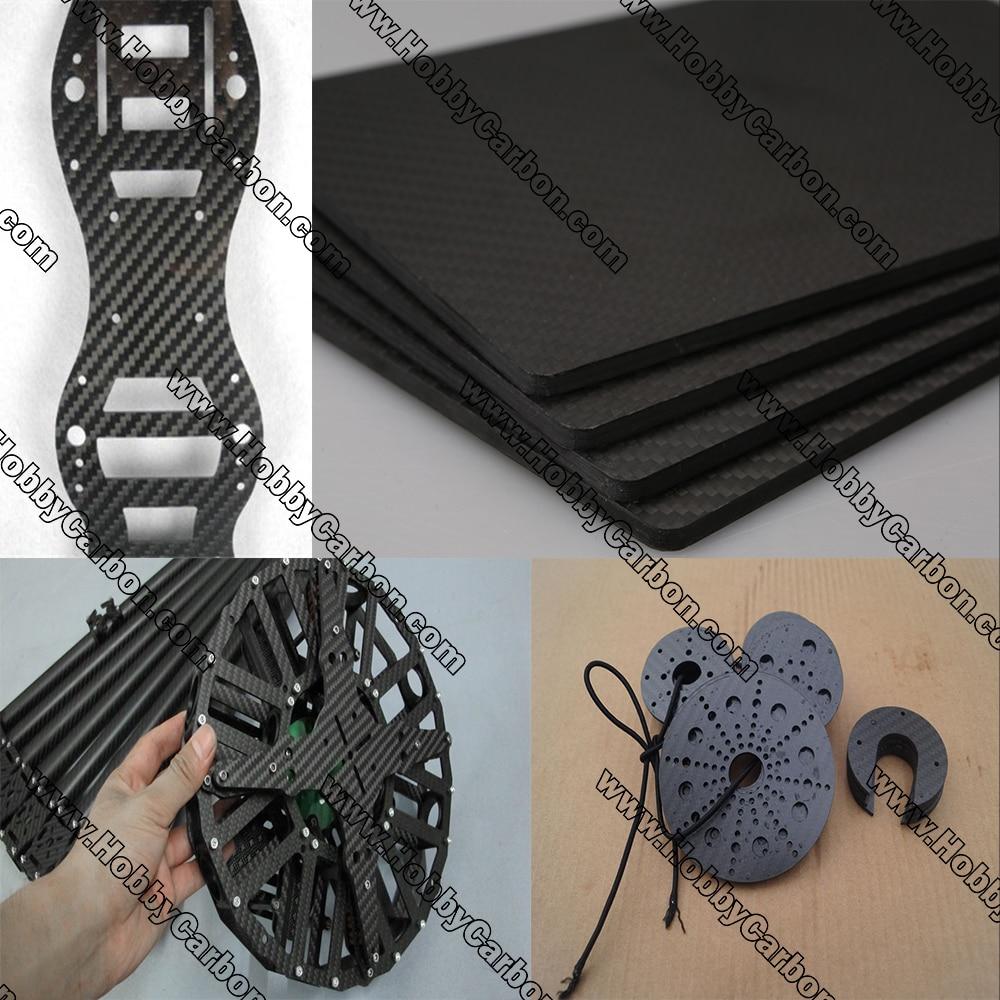 processamento de corte cnc placa placas para folha de sarja de fibra de carbono fosco completo
