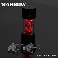 Barrow T Virus Helix Suspension Cylinder Water Tank 155mm With Black Cap Water Cooling Reservoir TLYK155