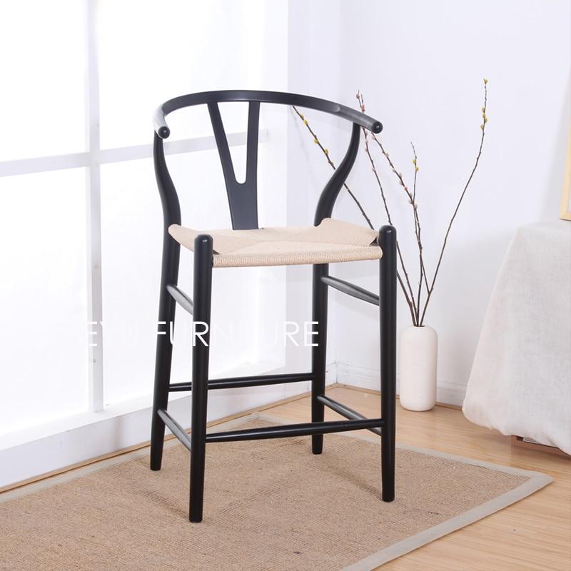 US $288.0 |Sitzhöhe 63,5 64 cm massivholz moderne design Barhocker hocker  mode beliebte holz barhocker, küche zimmer hoher hocker-in Bar-Stühlen aus  ...