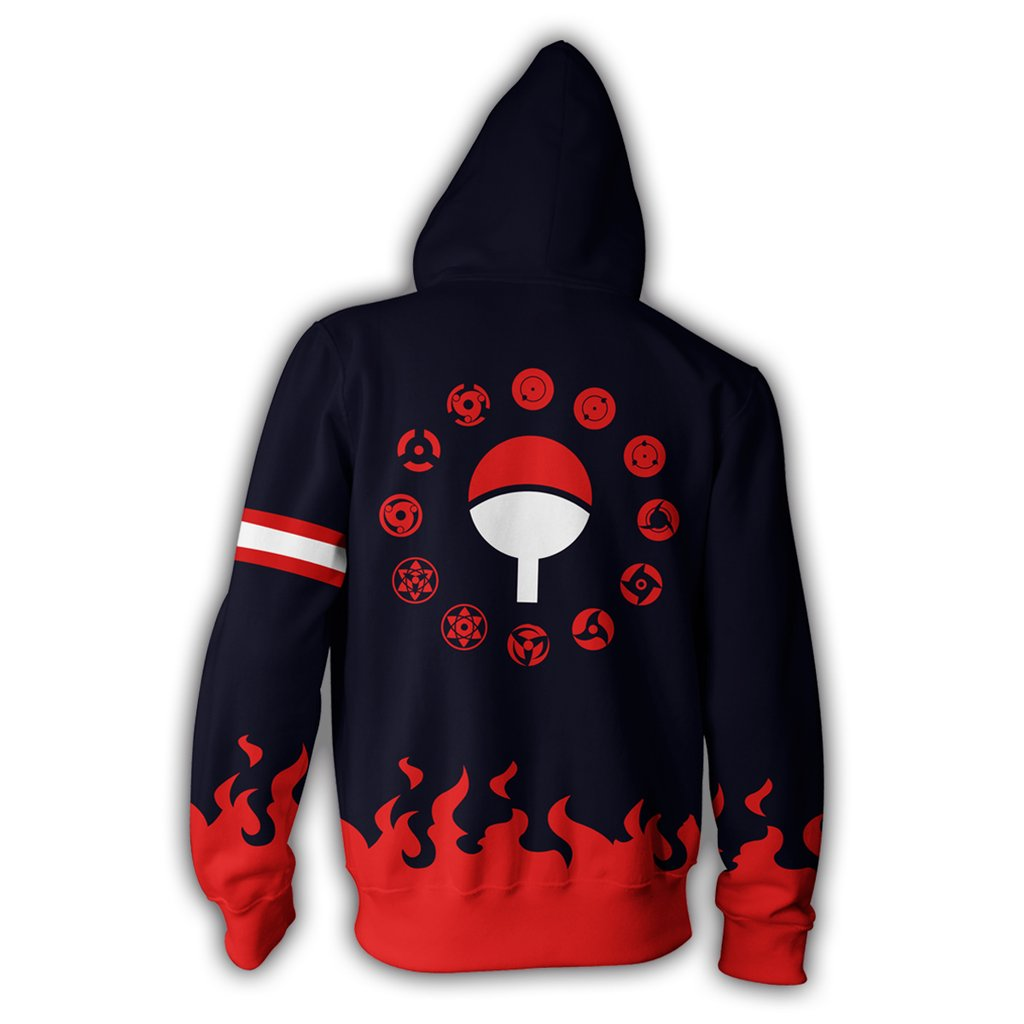 Uchiha Sweater: Uchiha Clan Blue Fire Hoodie