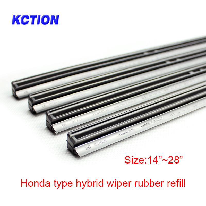 1 Pcs Kction Car Windscreen Wipers Blade Refill Hybrid Natural Wiper Blade Rubber Replacement For Honda Accord Crv Infiniti