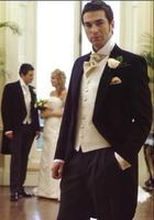 Индивидуальные элегантный Жених утро костюм свадебный смокинг для мужчин Жених одежда 3 предмета в Комплекте Костюмы включают (куртка + жил