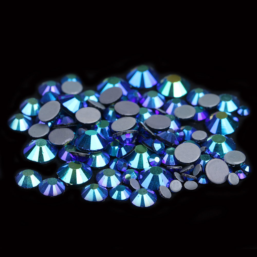 Rhinestones & Decorations Good Hotfix Rhinestones With Glue Backing Iron On Perfect Clothes Shoes Dresses Diy Decorations Emerald Ab Color Beauty & Health