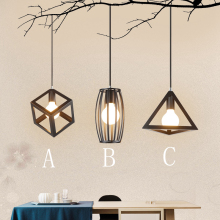 E27 Nordic retro style Pendant Lights creative Corridor dining room lamp simple bedroom Iron Baking Paint Led