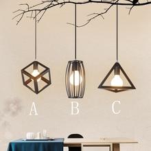 E27 Nordic retro style Pendant Lights creative Corridor dining room lamp simple bedroom Iron Baking Paint Led Pendant Lights