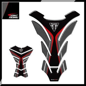 Dla Triumph 675R Tiger 800 XC prędkość potrójne Tankpad 3D nakładki ochronne na zbiornik motocykla kalkomanie