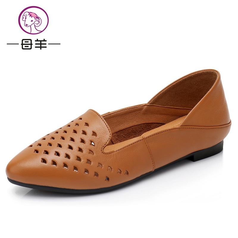 womens sandal sepatu Wanita Kulit Asli Sepatu Fashion Datar Sepatu - Sepatu Wanita - Foto 2