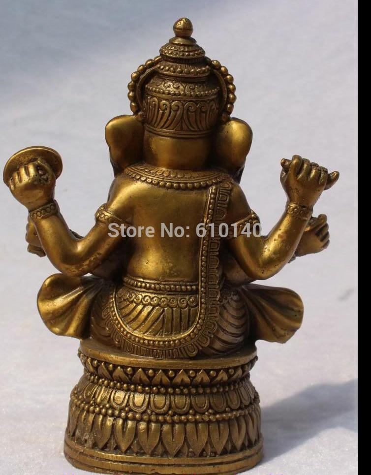 free shipping 18CM Tibetan Religions Bronze Ganapati Ganesh Lord Ganesha Buddha Statue ganesh kumar t sustainable vermicomposting of salvinia molesta mitchell