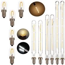 T20 E14 bombilla Led bombillas de Edison Vintage filamento de la bombilla 220V 230V 240V 1W 3W 4W 6W Tubular Lámpara antigua T20 2700K blanco cálido