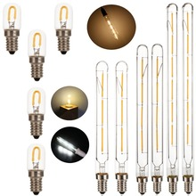 Светодиодная лампа Эдисона T20 E14, винтажная лампа накаливания 220 в 230 в 240 В 1 Вт 3 Вт 4 Вт 6 Вт, трубчатая антикварная лампа T20 2700 к, теплый белый цвет