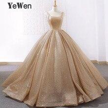 YeWen Evening Dresses 2019 Floor Length Prom Dress
