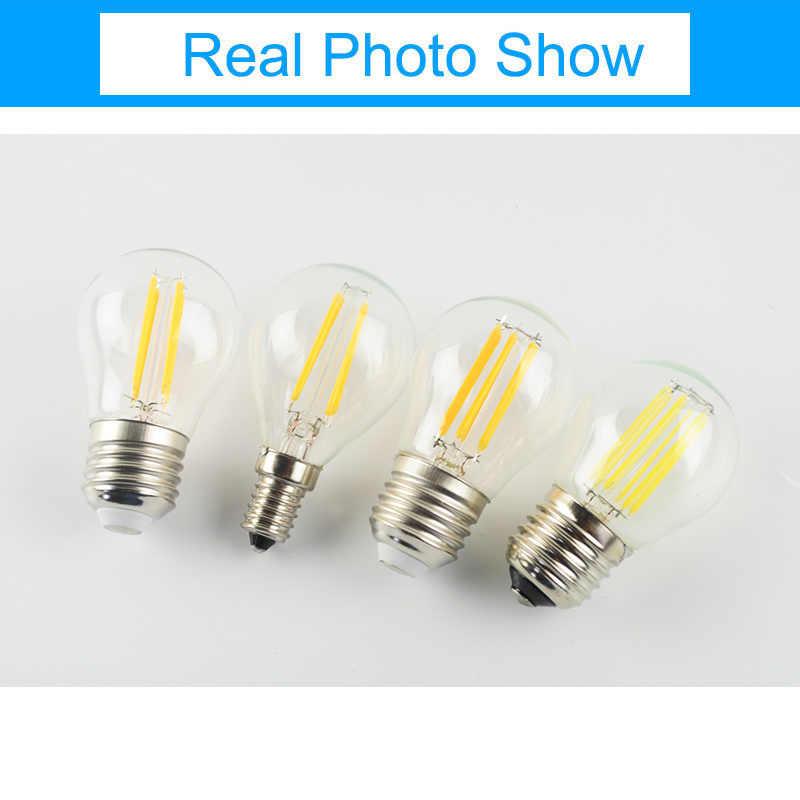 GreenEye 4 pièces/lot LED ampoule E27 E14 G45 AC 220V 2W 4W 6W LED ampoule à billes en verre Edison lampe Antique rétro Vintage LED lumière à incandescence