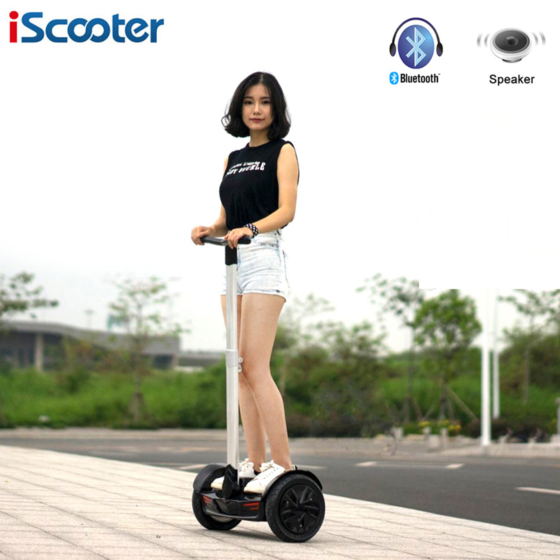 iScooter 10 inch Handle Bar Hoverboard Electric Self Balancing Scooters 2 Wheel Skateboard Smart Standing Hoverboard Skateboard iscooter hoverboard 6 5 inch bluetooth and remote key two wheel self balance electric scooter skateboard electric hoverboard