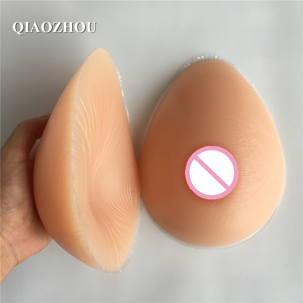 1600g E cup female silicone breasts prosthesis for mastectomy travesti boobs crossdresser shemale fake silicone breast