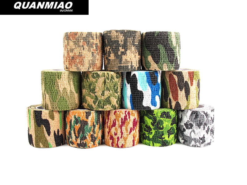 6 colori Tactical Camouflage 1 Roll Stretch Bandage Outdoor Caccia - A caccia